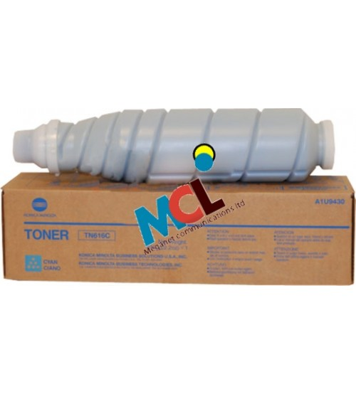 Konica Minolta TN-616C Toner Cartridge -Cyan