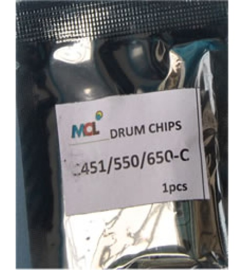 Bizhub C451 C550 C650  Cyan Drum Chip