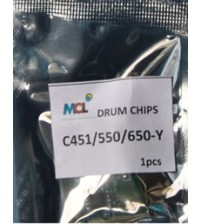 Bizhub C451 C550 C650  Yellow Drum Chip