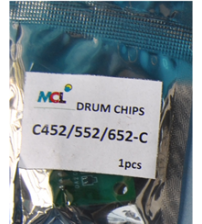 Bizhub C452 C552 C652  Cyan Drum Chip