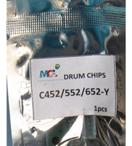 Bizhub C452 C552 C652  Yellow Drum Chip